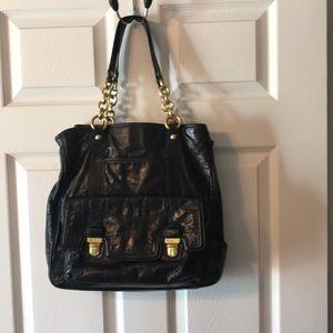 Large Coach Glazed Leather Handbag Purse tote 👜